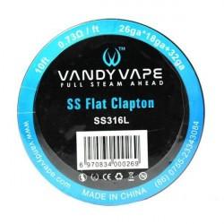 Flat Clapton SS316L 26ga + 32 ga 3m[Vandy Vape]