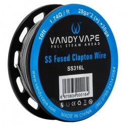 Fused Clapton SS316L 26ga + 32 ga 3m[Vandy Vape]