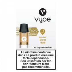 5x2 Capsules VPRO Epod Blend Doré 1,9ml