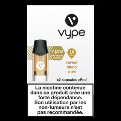 2 Capsules VPRO Epod Blend Doré 1,9ml
