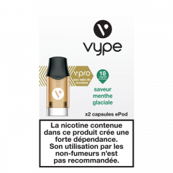 5x2 Capsules VPRO Epod Menthe Glaciale 1,9ml