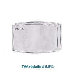 Filtres à charbon pour masque de protection PM2.5 x2
