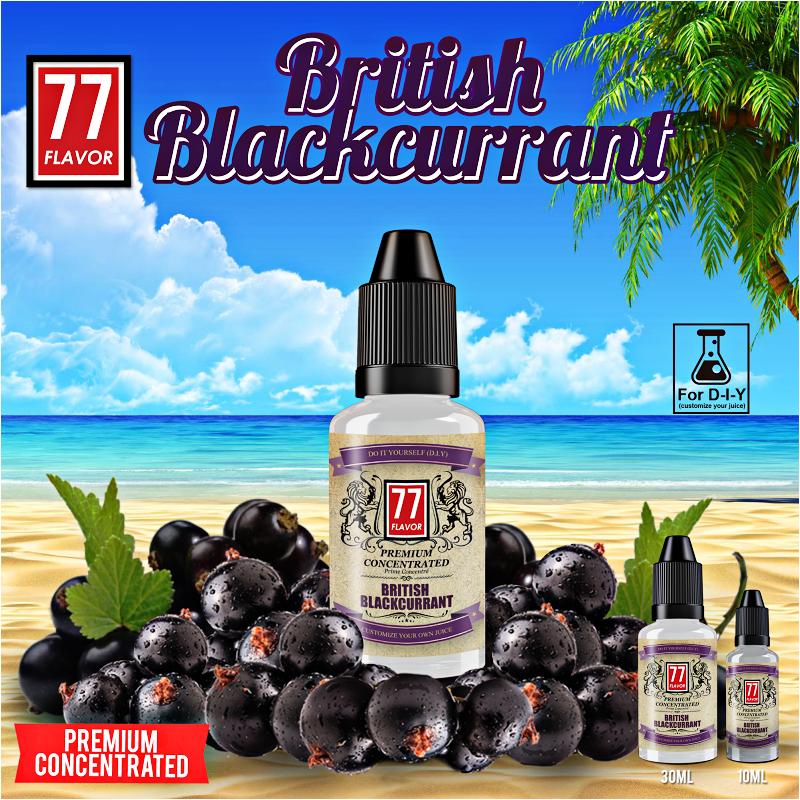 Concentré British Blackcurrant 30mL [Premium 77 Flavor]